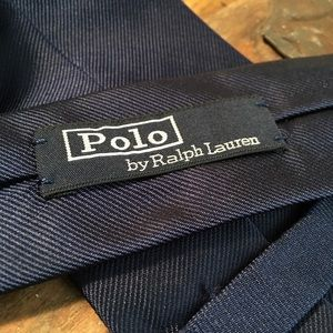 Polo by Ralph Lauren Blue Stitched Mens Tie